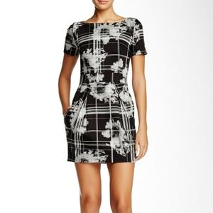 French Connection Wilderness Check Dress Black